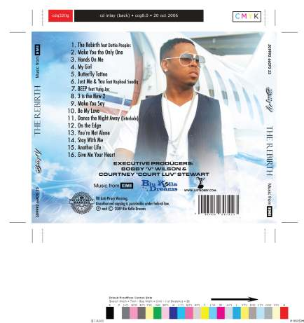 BOBBY V Album Artwork design