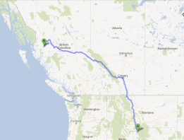 Idaho to BC