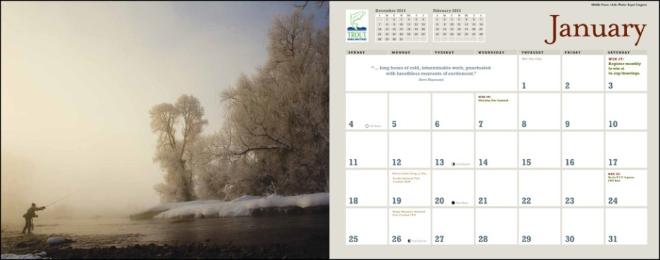 Trout Unlimited Calendar 2015