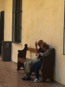 More tourists at rest in Alcazar