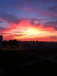 Sunset over pueblo Too