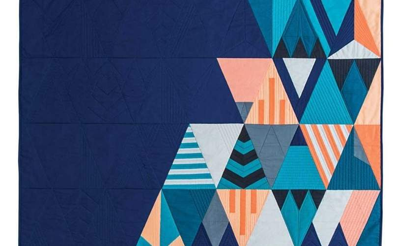 Stardust {Modern Triangle Quilts}