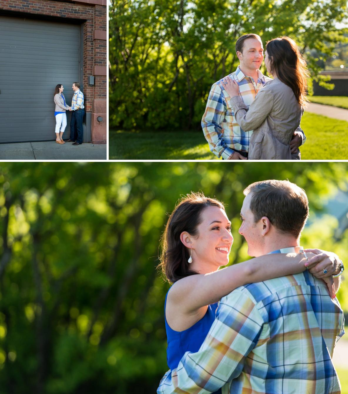 Engagement photos near the Aerial Lift Bride and Lake Superior in Canal Park, Duluth MN.