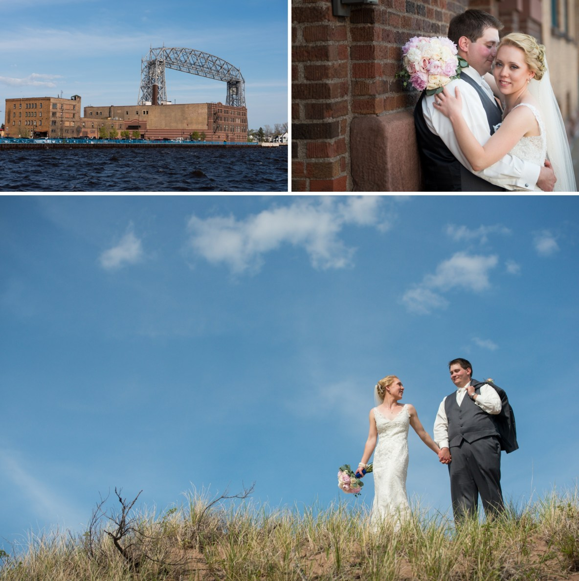 Canal Park and Park Point Wedding Photos in Duluth MN by Bryan Jonathan Weddings.