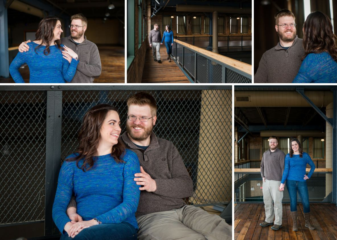 Engagement photos at Clyde in Duluth, MN.