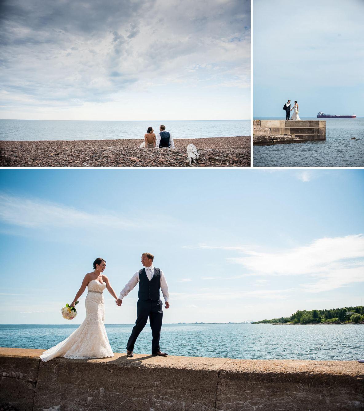 Wedding Photos at Glensheen Mansion in Duluth Minnesota