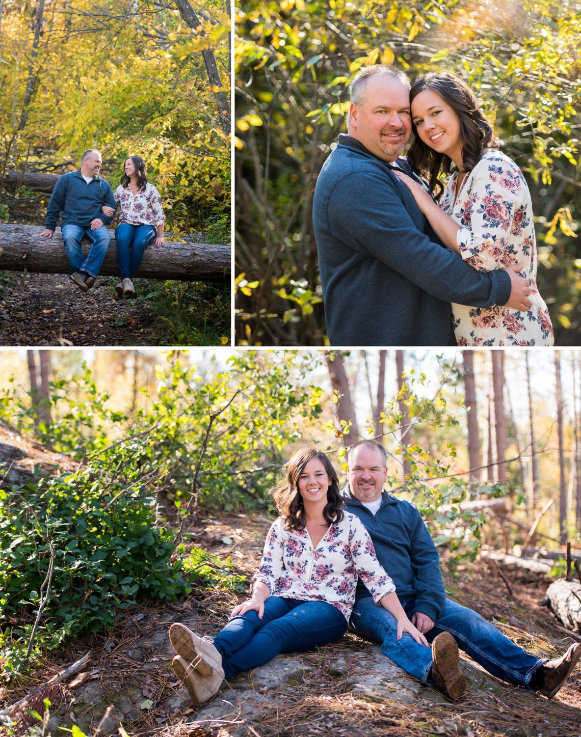 Duluth engagement photos at the Hartley Nature Center.