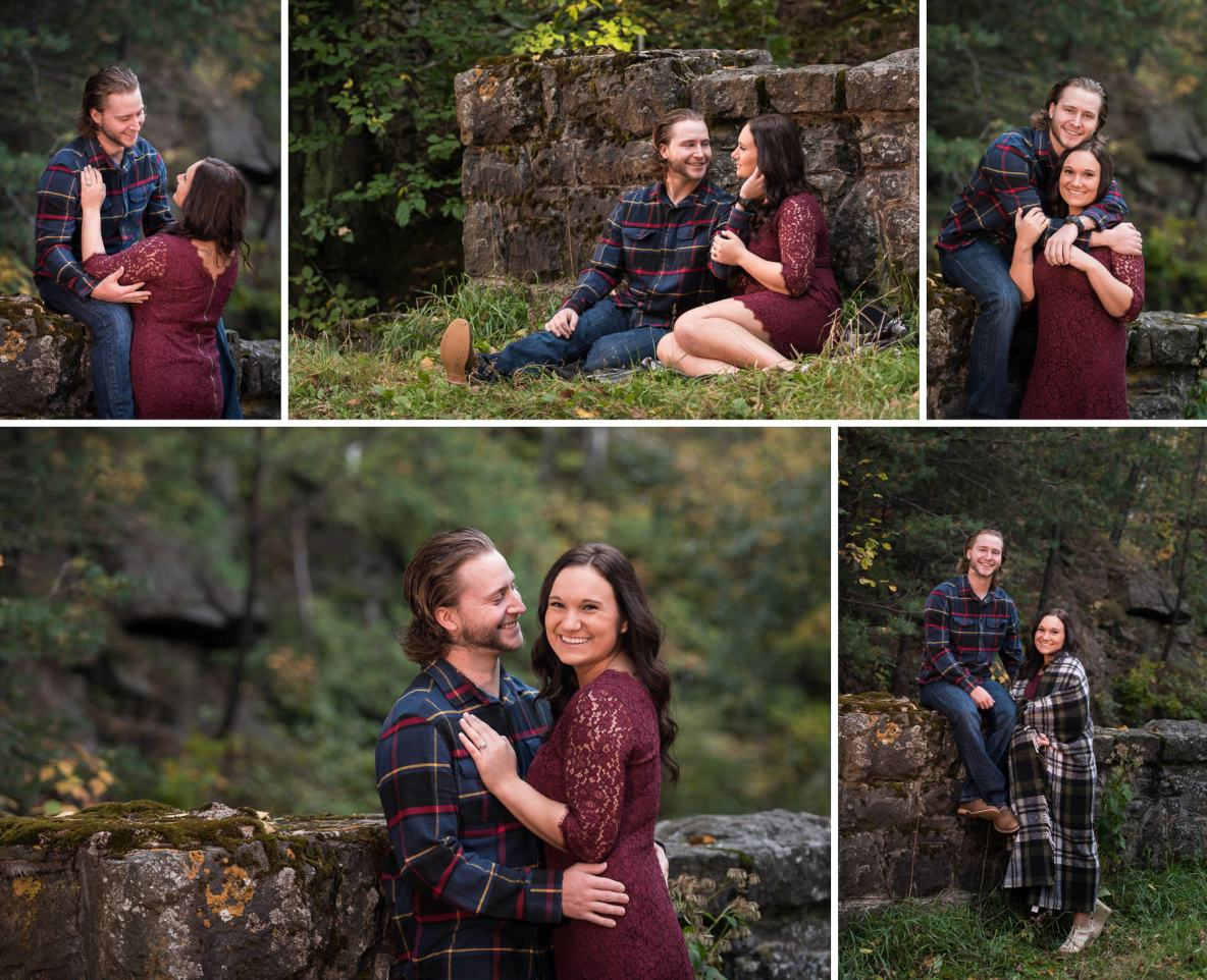 Fall colors engagement shoot on Hawk Ridge in Duluth, MN.