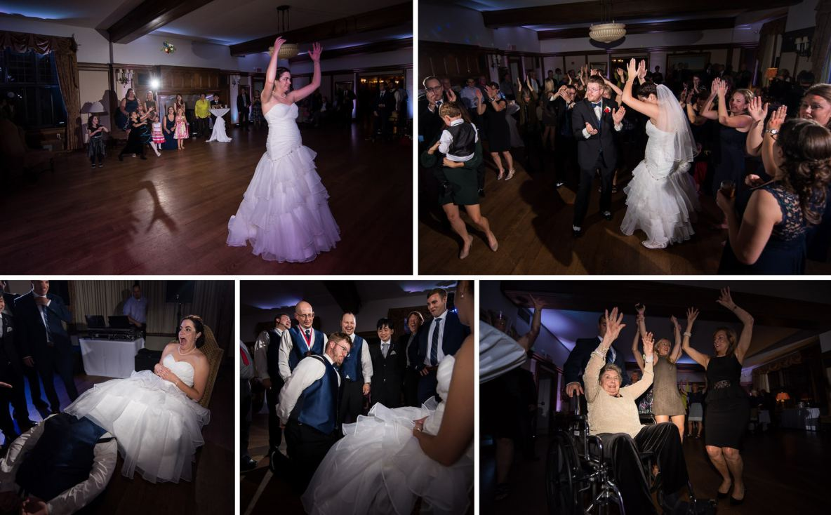 Photos of the wedding reception and dance.