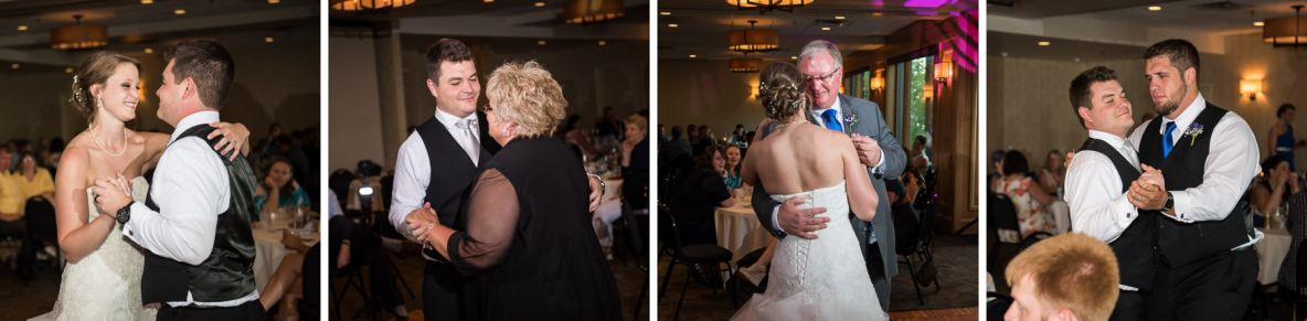 Photos of the dance-- the bride dancing with her groom and her father.