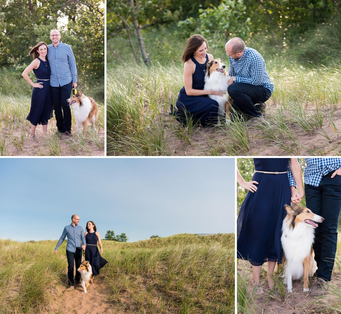 Engagement photos with dog in Duluth, MN