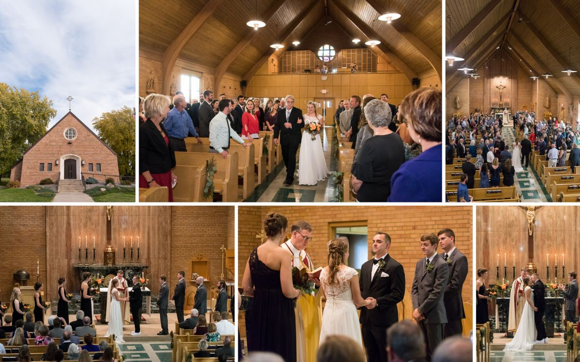 Photos of the wedding ceremony in picturesque church.