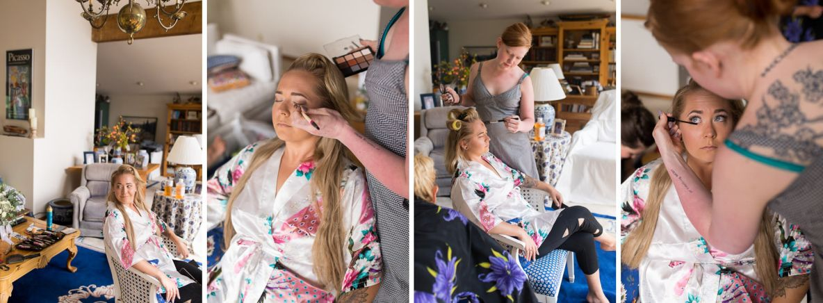 Photos of the bride getting ready before the wedding