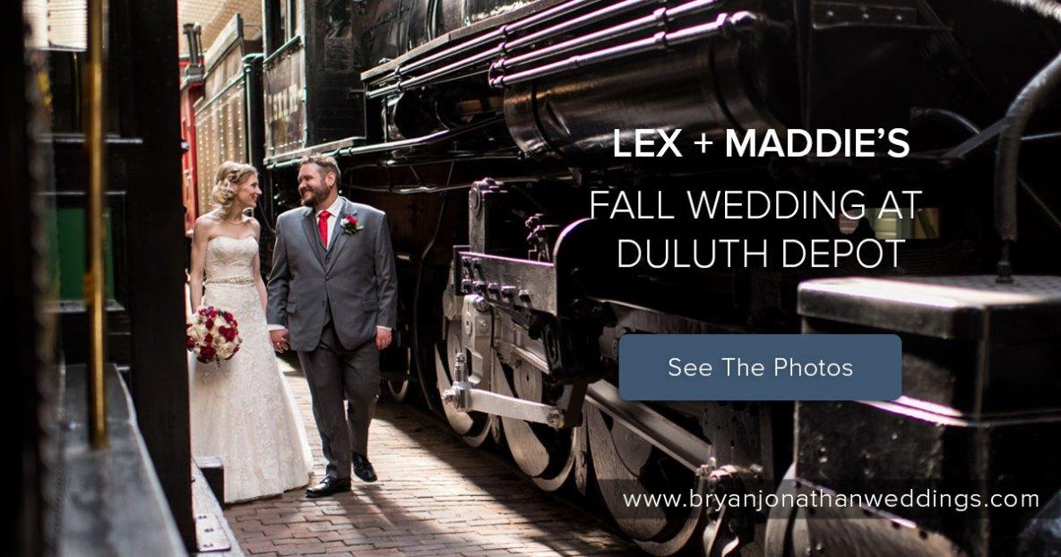 Duluth Depot wedding photo