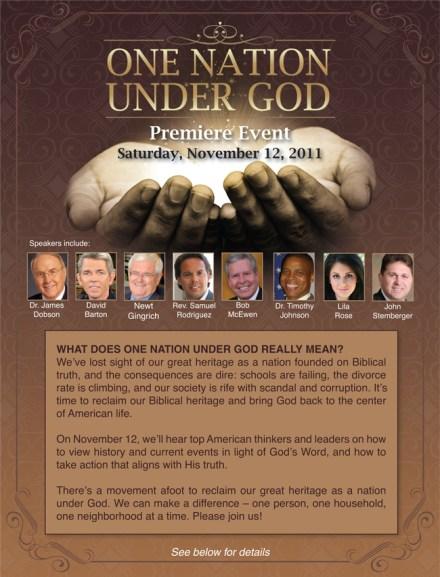 One Nation Under God Event