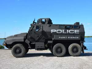 Ft. Pierce Armored Vehicle SWAT Team