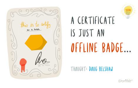 a certificate is just an online badge