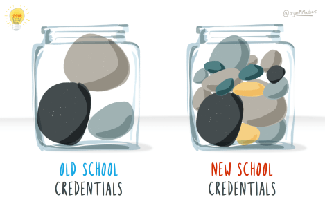 old school vs new school credentials