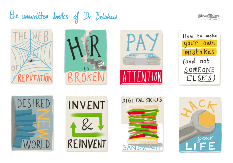 The unwritten books of Dr Belshaw