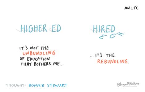 The unbundling of Higher Ed