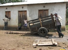 Workers rest in the shade on a farm near Arusha, northern Tanzania.