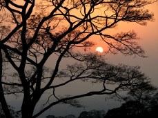 Sunset over Mt. Meru, near Moshi.