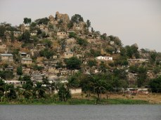 Slums rise up the hills around Mwanza, on Lake Victoria