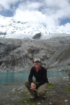 """The author hiking (alone) in Huscaran NP, Peru, from """"Always Have a Travel Buddy"""""""