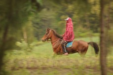 Local horseman, Bromo-Tengger-Semeru National Park, Java