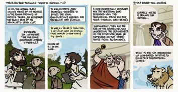 Sample comic of Teaching Baby Paranoia