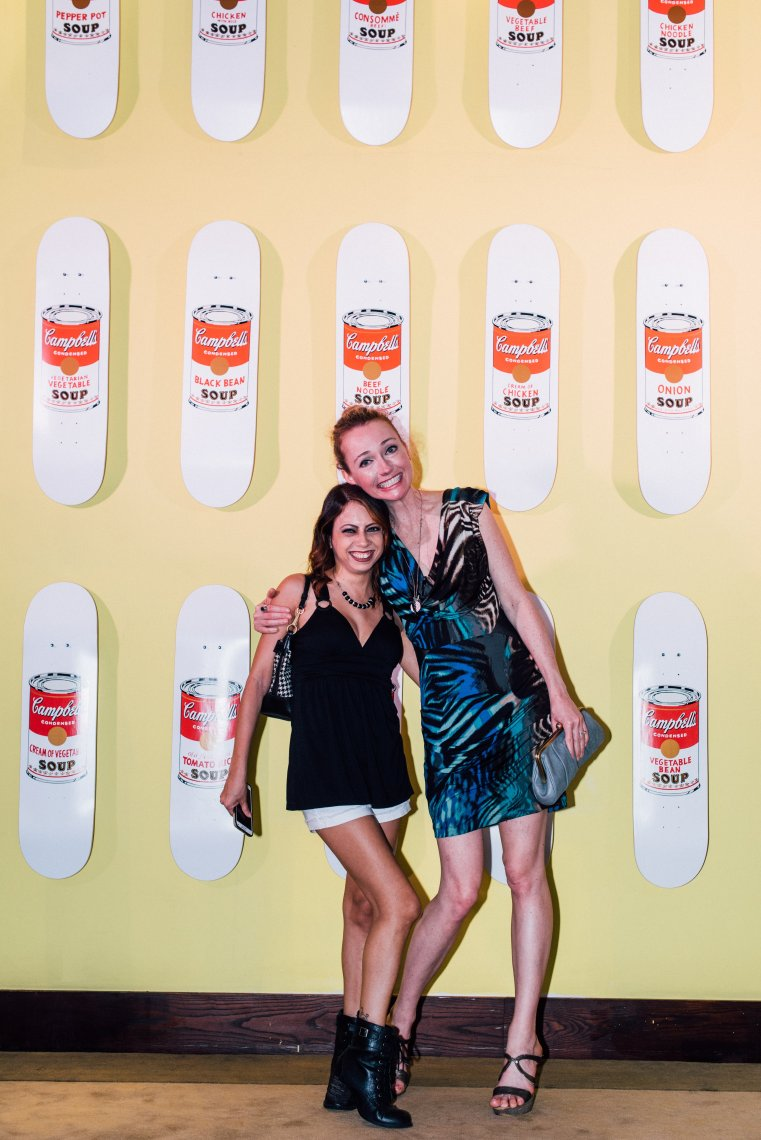 The Delano Andy Warhol soup can on skate decks with Sandi Kitsteiner and SuzyMae