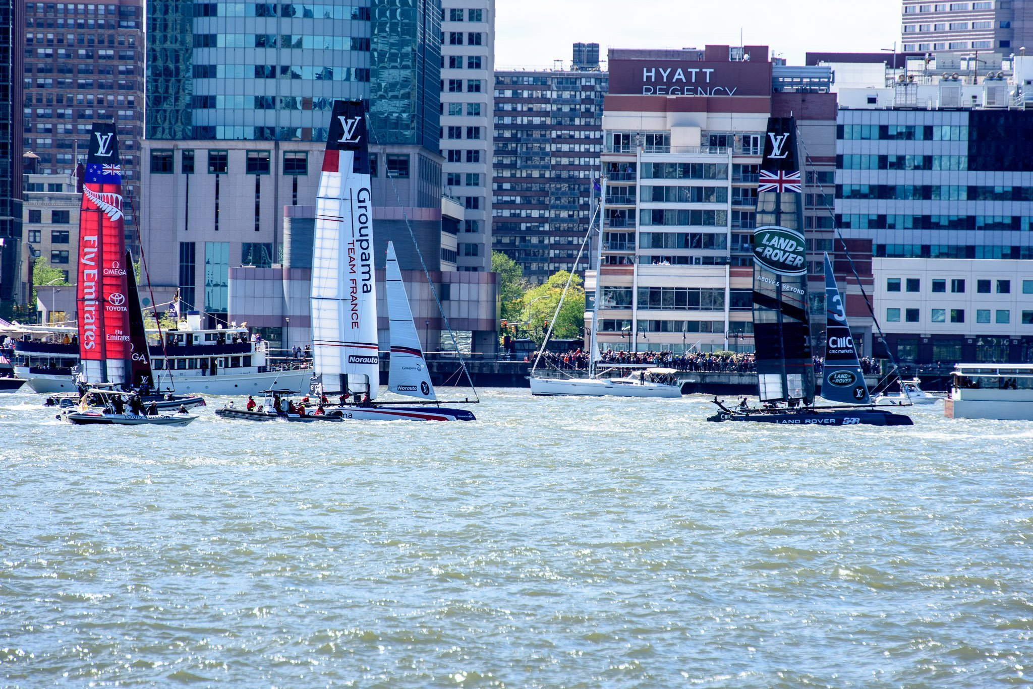 Fly Emirates, Team France, Land Rover America's Cup