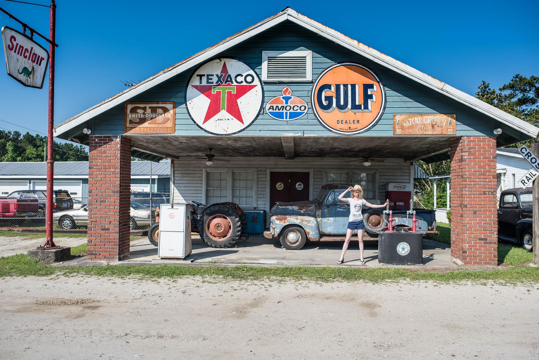 SuzyMae, vintage Gas Station