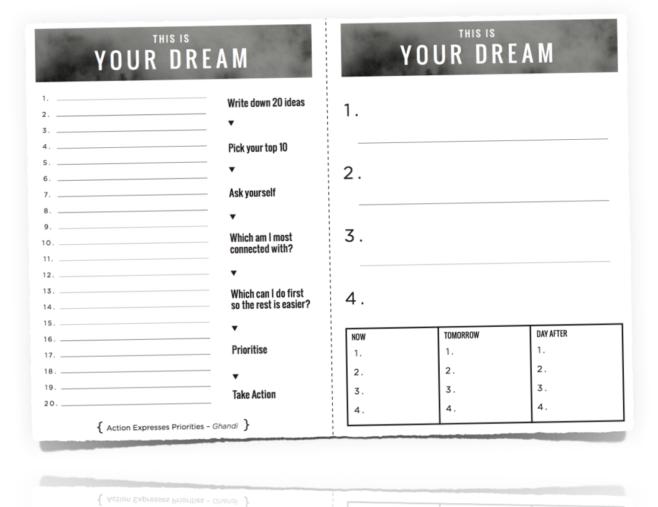 dream-worksheet