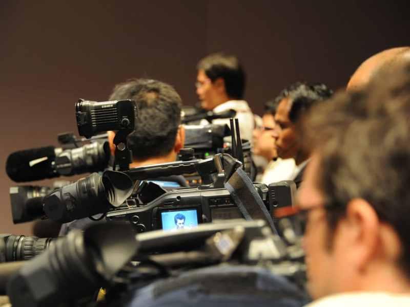 Cameras at a Press Conference