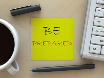 Be Prepared - Post-it Note