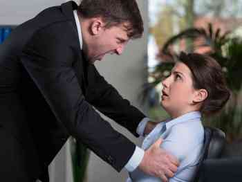 Man threatening Assistant