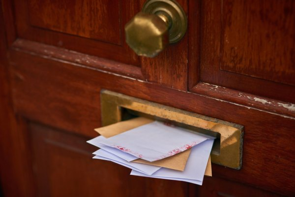 Letters in a Mail Slot