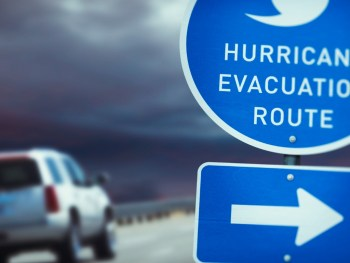 SUV on Hurricane Evacuation Route