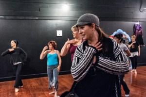 Dancers during BollyHop class