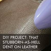 DIY project: that stubborn-as-hell dent on my leather bag