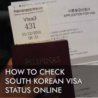 Checking Korean visa status online