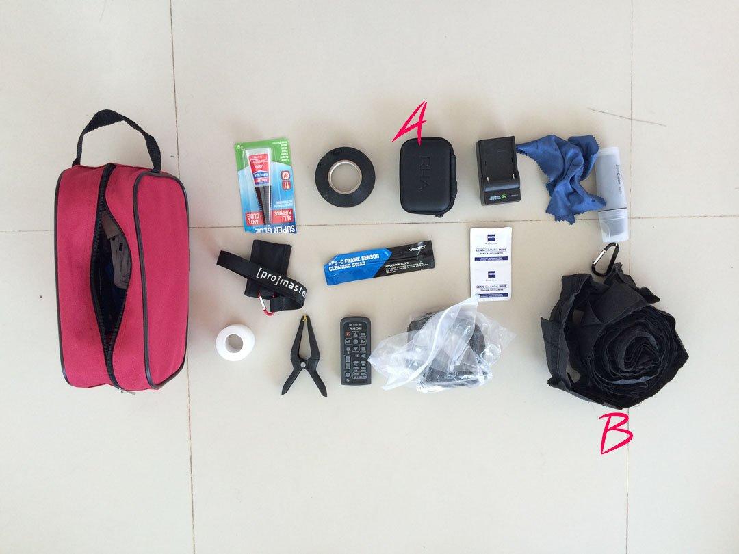 random gear bag
