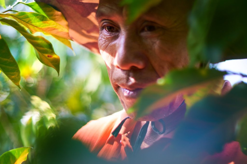 Portrait of a coffee farmer by humanitarian photographer Bryon Lippincott