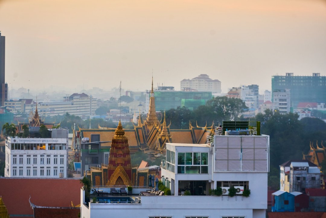 Photo of Phnom Penh Skyline by Humanitarian Photographer Bryon Lippincott