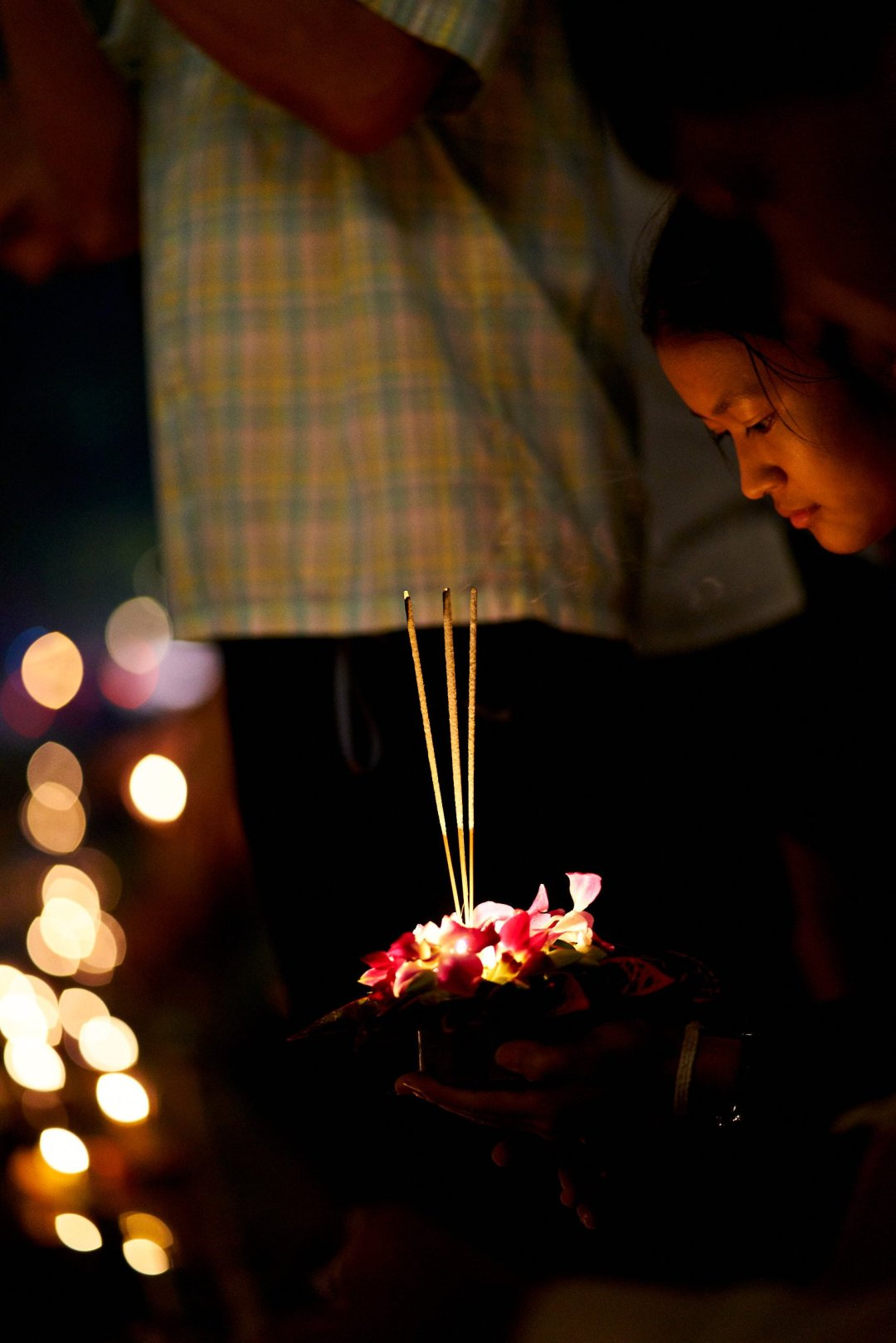 in Chiang Mai, Thailand during the Loi Krathong festival on November 11, 2019 by photographer Bryon Lippincott