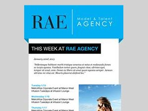 RAE Agency Newsletter Design
