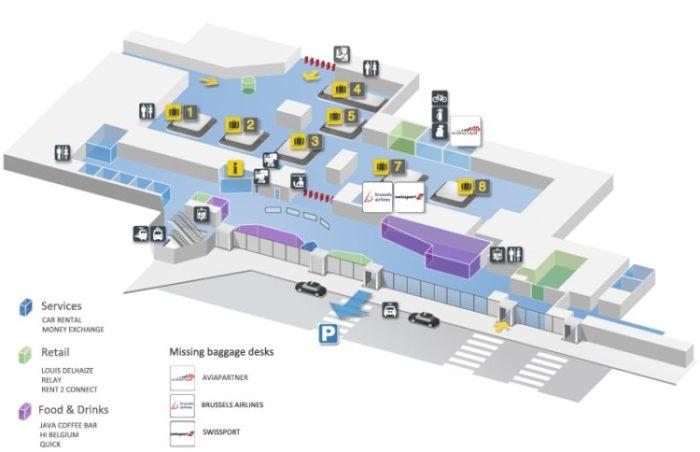 Схема аэропорта Брюсселя