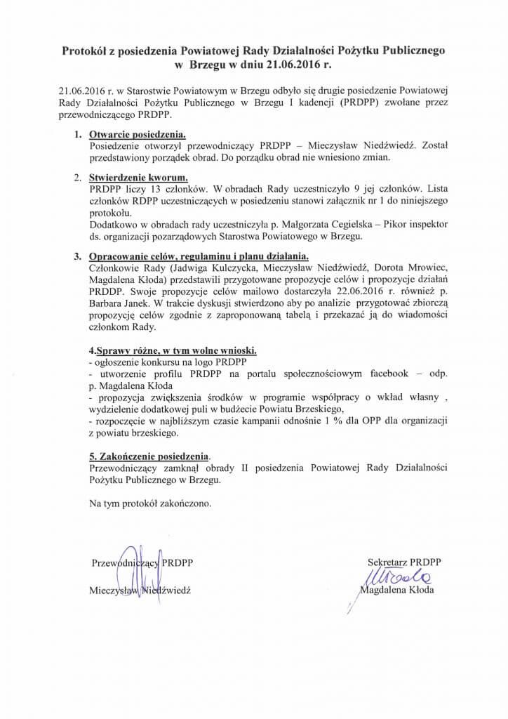 II posiedzenie Powiatowej Rady Działalności Pożytku Publicznego w Brzegu