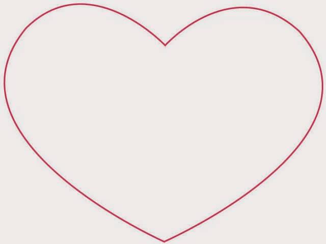 serce szablon